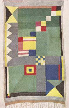 Germany. Bauhaus tapestry, 1920s // designer: Benita Koche-Otte