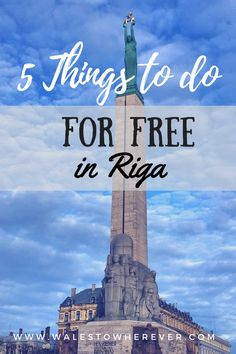 5 Free Things to Do in Riga - They say the best things in life come for free. So do the best things in travel! If you're on a limited budget but want to make the most out of your trip to the Latvian capital, you need this list. Places To Travel, Travel Destinations, Places To Go, European Destination, European Travel, Malaga, Granada, Europe Travel Guide, Budget Travel