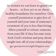 Love and guard your heart