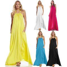 Summer maxi halter dresses