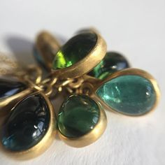 A cluster of bezel set tourmalines; clearly the work of Lola Brooks. #lolabrooks @dolorescanard #tourmaline #18k @lovegoldlive #futureheirlooms #jewelrydreams #finejewelry #augustla