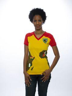 54 Kingdoms Score For Unity (SFU) Women's Tee Red-Yellow