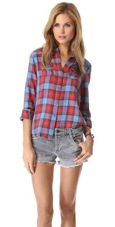 Joe's Jeans Plaid Button Down Shirt:  everyday look