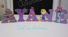Letras em MDF decoradas Rapunzel