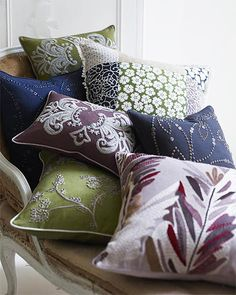 So many great pillows, if only I had a place for them!