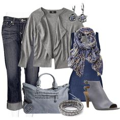 Grey n Blue, created by tammietoo2 on Polyvore