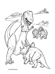 knabstrupper hengst dinosaur coloring pages | 1000+ images about Dinosauri: Disegni da Colorare on ...