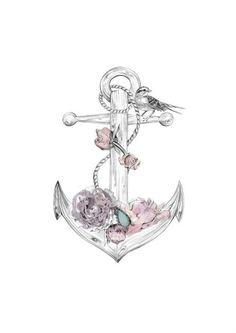 Anchor tattoo girly