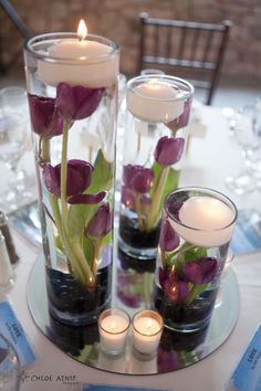 submerged candles