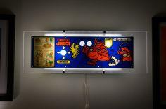 Vintage Donkey Kong Junior Arcade Control Panel Wall Light