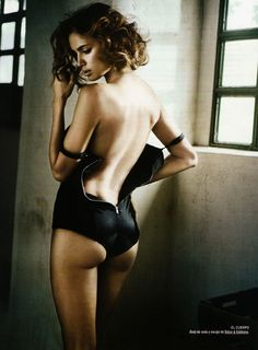 Example of a classy, yet sexy photo - a balance that is critical to our style. [Irina Shayk by Vincent Peters]