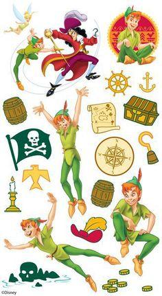 stickers for scrapbooking | disney scrapbooking stickers pirates scrapbooking stickers ek tools ... Bebe Vector, Peter Pan Images, Scrapbook Stickers, Disney Scrapbook, Ek Success, Tinkerbell Party, Disney Printables, Peter Pan Movie, Peter Pan Party