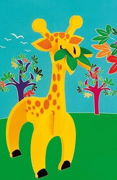 Играй и учи с APLI Kids 3D Пъзел-Жираф. Подходящ подарък за деца над 4 години.