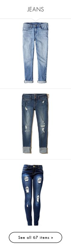 """""""JEANS"""" by leenap ❤ liked on Polyvore featuring jeans, bottoms, pants, hollister, ripped dark wash, destructed skinny jeans, torn skinny jeans, super skinny jeans, cropped skinny jeans and distressed skinny jeans"""