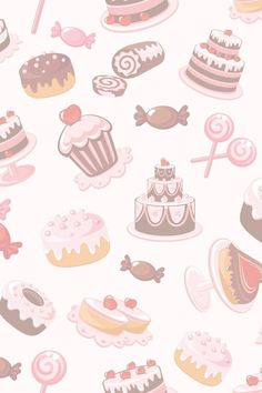 Food Background Wallpapers, Cake Background, Food Backgrounds, Baking Wallpaper, Food Wallpaper, Kawaii Wallpaper, Logo Doce, Cupcakes Wallpaper, Cupcake Logo