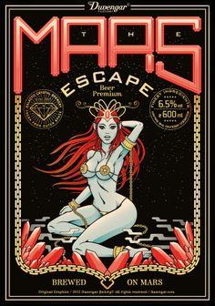 The mars escape by John Duvengar, via Behance