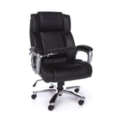 Black office chairs are always in style. This pin is from a review article highlighting top office seating models in black fabric, leather, and mesh for the home and business #BlackOfficeChairs #BlackChairs #OfficeChairs