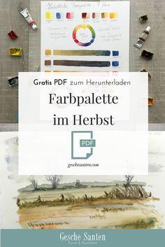 Harmonische Bilder mit begrenzter Farbpalette - Meine Aquarellfarben für den Herbst Aquarell Skizzenbuch, Naturskizzenbuch, Urban sketching Material