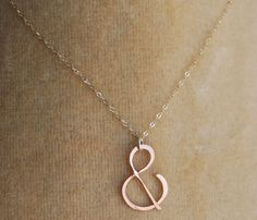 """Rose gold """"&"""" Necklace  by Make Pie Not War...perfectly pretty"""