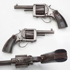 Philippine Resistance Revolver - During WWII, Philippine resistance fighters found themselves with a shortage of weapons to use against Japanese occupation forces. Completely built by hand, this primitive manually-operated revolver worked in a pinch.  Chambered in .38 S&W, it was built in the mountains of Mindanao using only a 12-inch rough cut file and a breast drill. NRA National Firearms Museum in Fairfax, VA