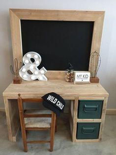 kids wooden desk mommo design: kids desks NGQQNFB - Home Decor Ideas Kids Furniture, Furniture Decor, Upcycled Furniture, Childrens Desk, Deco Kids, Kid Desk, Boys Desk, Kids Bedroom, Room Kids
