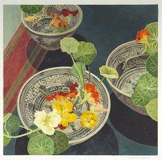 Art Floral, Art And Illustration, Botanical Illustration, Art Graphique, Australian Artists, Art Design, Woodblock Print, Flower Art, Printmaking