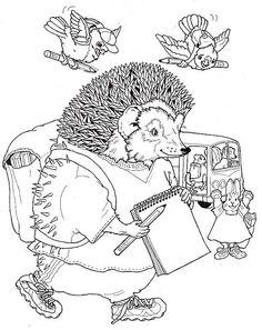 hedgehog_6 adult coloring pages