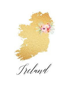 www.thecottagemarket.com CountryPrintables TCM-GoldFoil-Countries-Ireland.png
