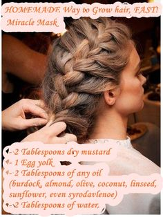 The French Braid - Braided Hairstyles Tutorials Side Braid Hairstyles, Pretty Hairstyles, Hairstyle Braid, Latest Hairstyles, Easy Hairstyles, Ways To Grow Hair, Natural Hair Styles, Long Hair Styles, Hair Dos