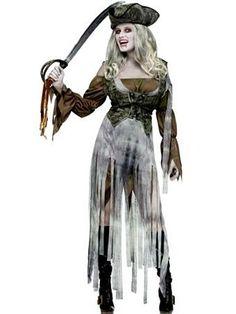 Boys Cutthroat Pirate Costume Wound Slit Cut throat Pirate Zombie Fancy Dress