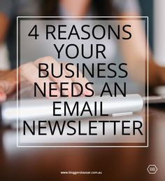 Some great tips about why you need an email newsletter for your business and it's free to start one! #blogging #newsletters