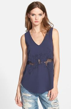 ASTR+Embroidered+Inset+Tank+available+at+#Nordstrom
