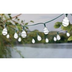 Solar Bubble String Lights  by Threshold