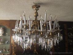 Lámpara de principios siglo XX de cristal de Baccarat
