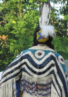Photo Courtesy - M. Native American Beading, Native American Art, American Indians, Beaded Cape, Powwow Regalia, Plains Indians, American Spirit, Pow Wow, Fabric Beads