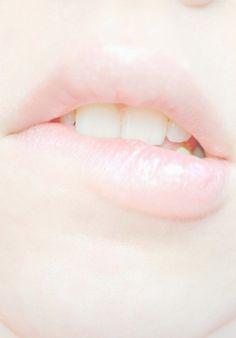 Muted, pale pink, light gloss Lips