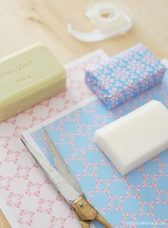 DIY paper-wrapped soaps