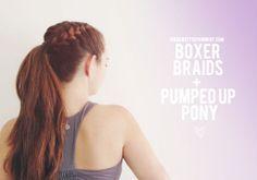 Repinned: Workout hair idea