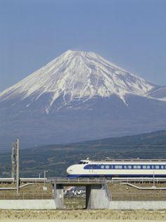 Shinkansen, Mount Fuji, in Japan