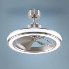 "24"" Fanimation Gleam Brushed Nickel LED Ceiling Fan - #69P10 | Lamps Plus"