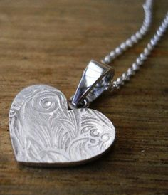 sterling silver heart necklace ♥
