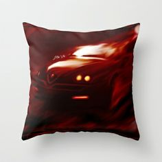 Flaming Alfa Gtv 916 Throw Pillow by Stefano Rimoldi - $20.00 Alfa Gtv, Throw Pillows, Toss Pillows, Decorative Pillows, Decor Pillows, Scatter Cushions
