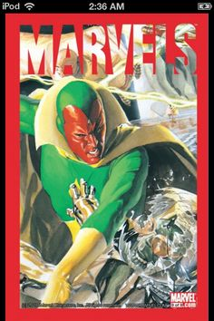 Vision is featured on the faux Marvels cover by Alex Ross. I think the image is from Marvels #2 interior art...