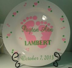 Baby plate done with vinyl