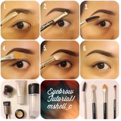 Brow Shaping Tutorials - The Perfect Brow - Awesome Makeup Tips for How To Get Beautiful Arches, Amazing Eye Looks and Perfect Eyebrows - Make Up Products and Beauty Tricks for All Different Hair Colo Best Eyebrow Makeup, Eye Makeup, Best Eyebrow Products, Eyebrow Pencil, Makeup Tips, Makeup Eyebrows, Eyebrow Brush, Makeup Set, Makeup Hacks
