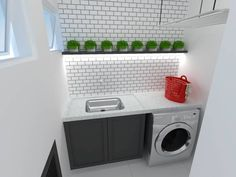 This article is about habits to keep your house clean, BUT we really wanted to show you this little laundry area. #cleanhome #laundry #homify