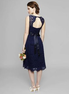 Photo 3 of Navy Lottie Lace Bridesmaid Dress