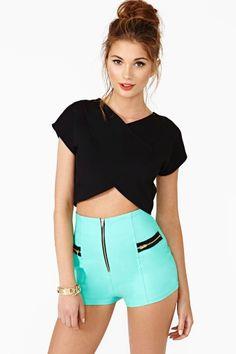 Follow Me Shorts in Mint