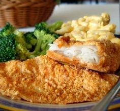 Baked Parmesan Fish: If you love crispy fried fish, this recipe is for you. Baking reduces the fat while still giving it that familiar, delicious crunchy texture. Keep it lean by serving with steamed broccoli or asparagus.