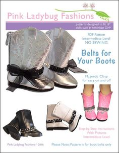 """BELTS FOR YOUR BOOTS 18"""" DOLL ACCESSORIES"""
